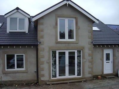 Front entrance with French Doors