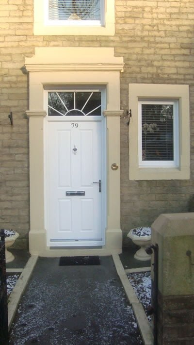 Composite front door accrington rishton glass and windows for Domestic front doors