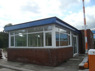 Commercial gate house windows and doors replacement