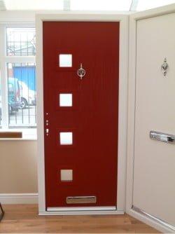 Composite Door in Showroom
